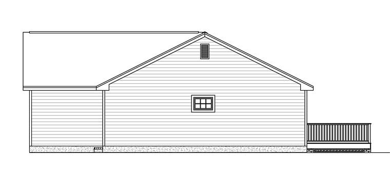 Ranch, Traditional House Plan 40606 with 3 Beds, 2 Baths, 2 Car Garage Picture 2
