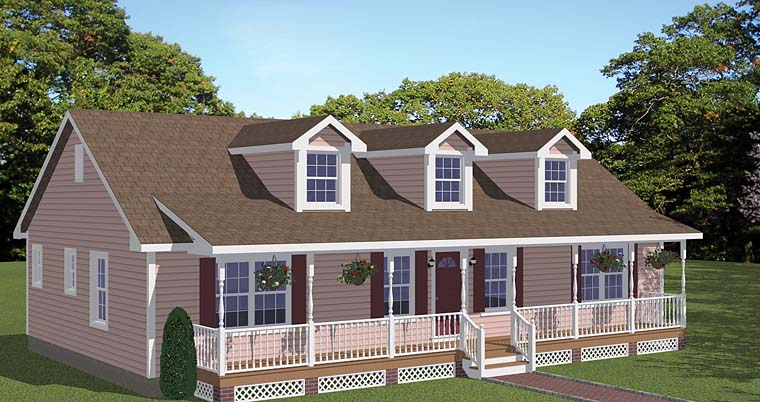 Country, Ranch, Southern, Traditional House Plan 40643 with 3 Beds, 2 Baths Front Elevation