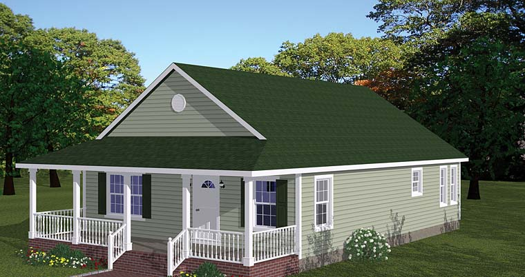 Country, Ranch, Southern, Traditional House Plan 40688 with 3 Beds, 2 Baths Front Elevation