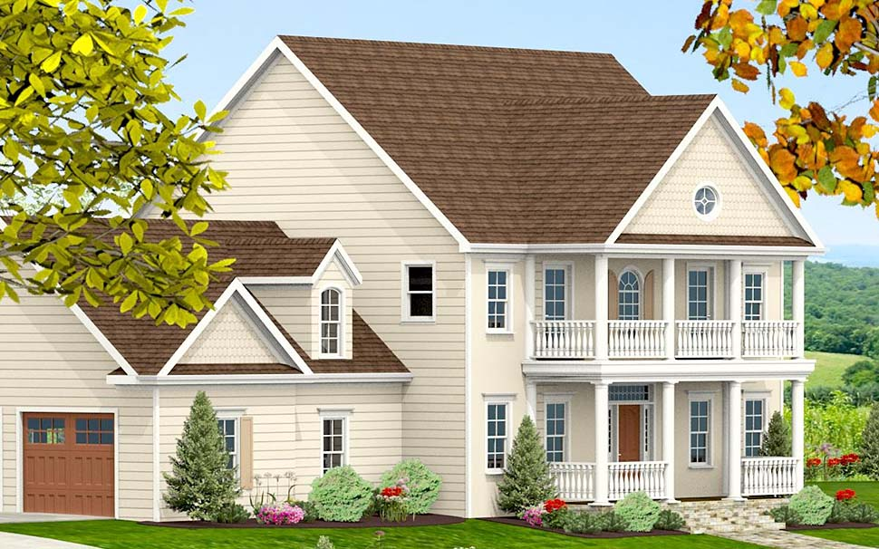 Colonial, Southern, Traditional House Plan 40704 with 3 Beds, 4 Baths, 2 Car Garage Picture 2