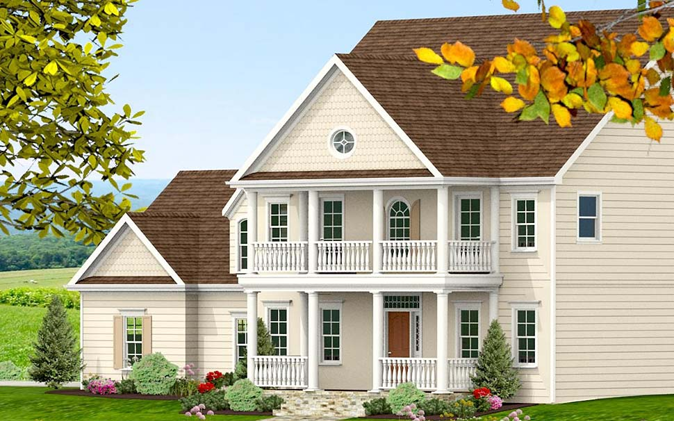Colonial, Southern, Traditional House Plan 40704 with 3 Beds, 4 Baths, 2 Car Garage Picture 3
