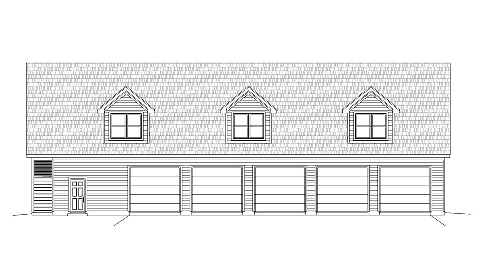 Country, Traditional 5 Car Garage Apartment Plan 40801 with 2 Beds, 3 Baths Picture 3