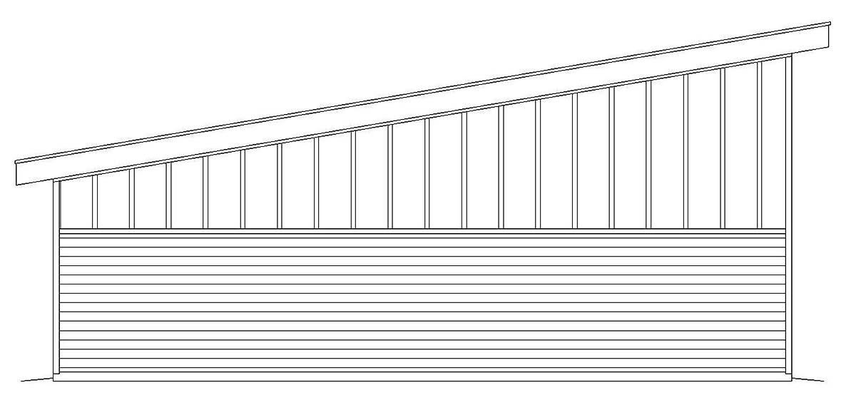 Contemporary, Modern 2 Car Garage Plan 40807, RV Storage Rear Elevation