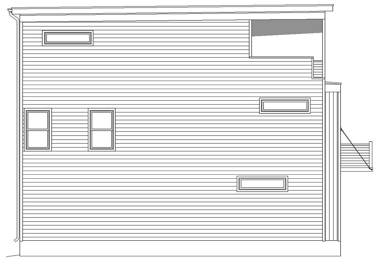 Coastal, Contemporary, Modern 0 Car Garage Plan 40812 with 3 Beds, 4 Baths Picture 2