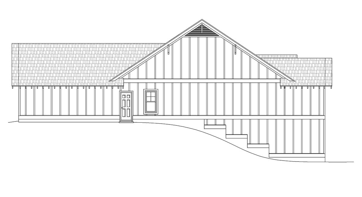 Cottage, Craftsman, Ranch House Plan 40826 with 3 Beds, 3 Baths, 2 Car Garage Picture 1