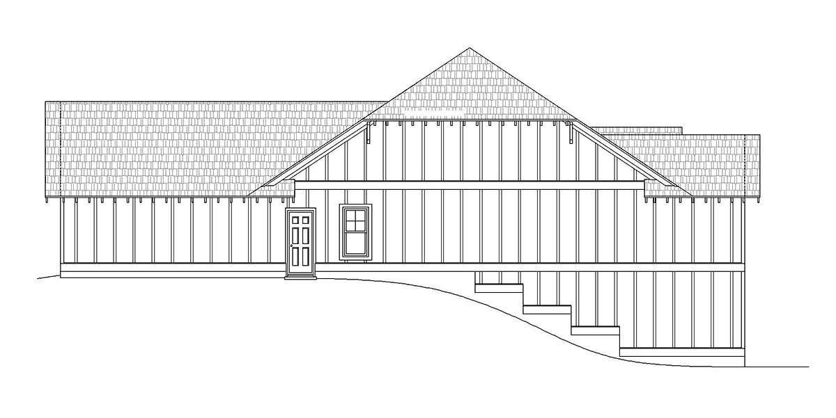 Cottage, Craftsman, Ranch House Plan 40827 with 3 Beds, 3 Baths, 2 Car Garage Picture 1