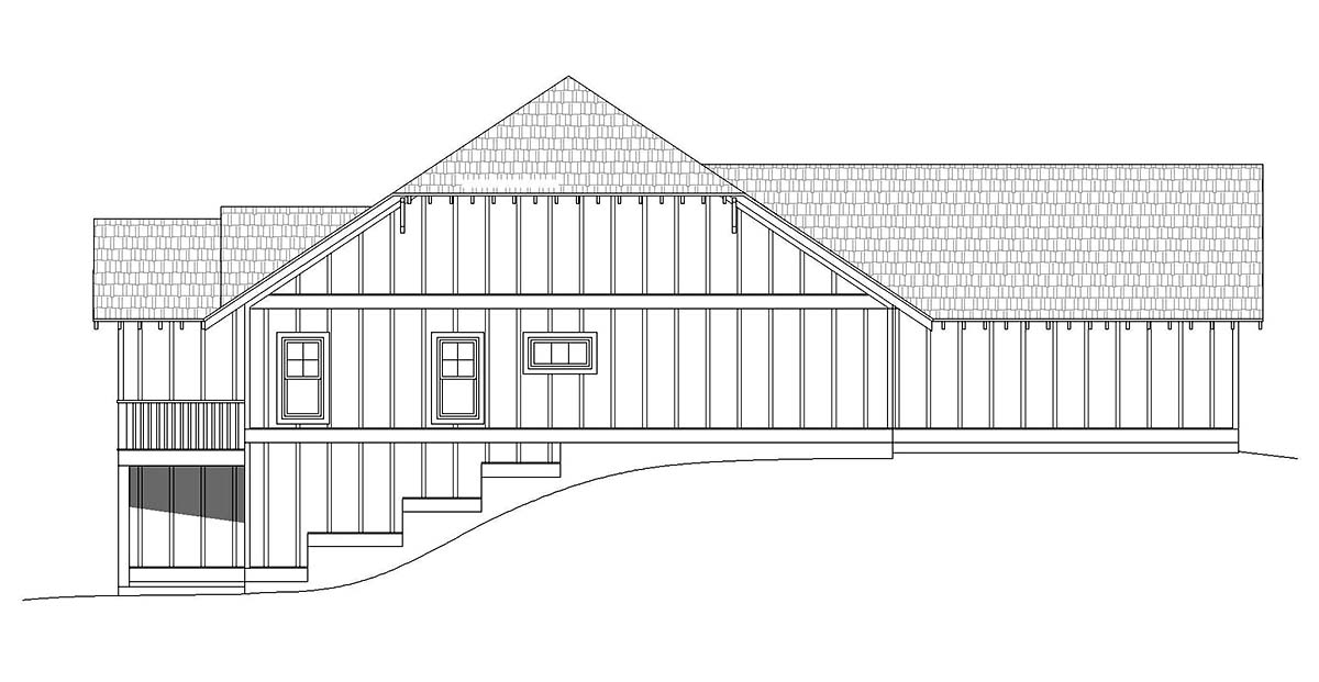 Cottage, Craftsman, Ranch House Plan 40827 with 3 Beds, 3 Baths, 2 Car Garage Picture 2