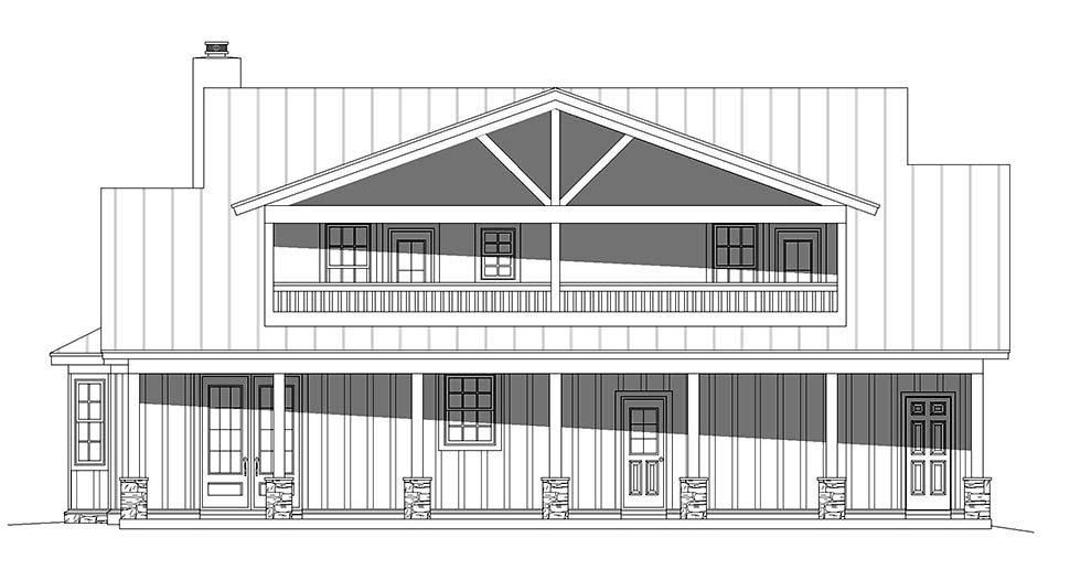 Bungalow, Cottage, Country House Plan 40847 with 3 Beds, 4 Baths Picture 4