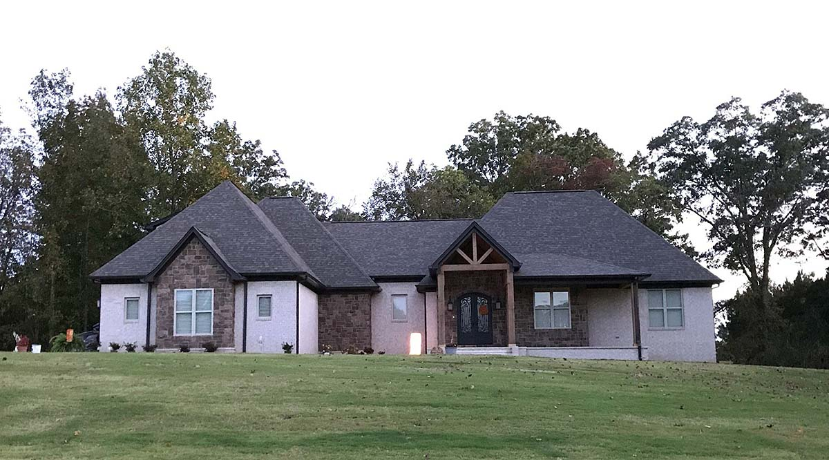 European, French Country, Ranch House Plan 40853 with 4 Beds, 4 Baths, 3 Car Garage Elevation