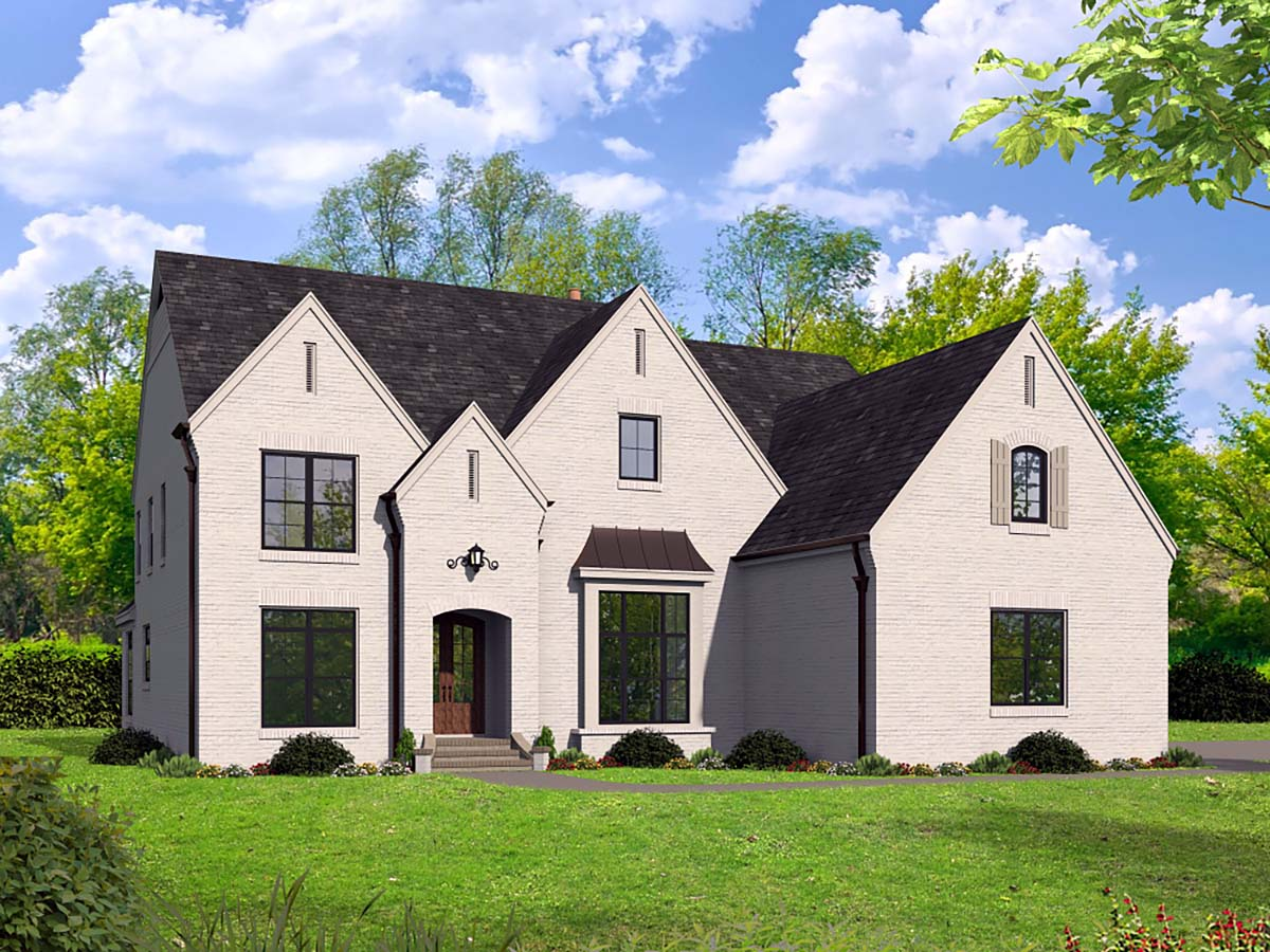 European, French Country, Traditional House Plan 40856 with 5 Beds, 5 Baths, 3 Car Garage Elevation