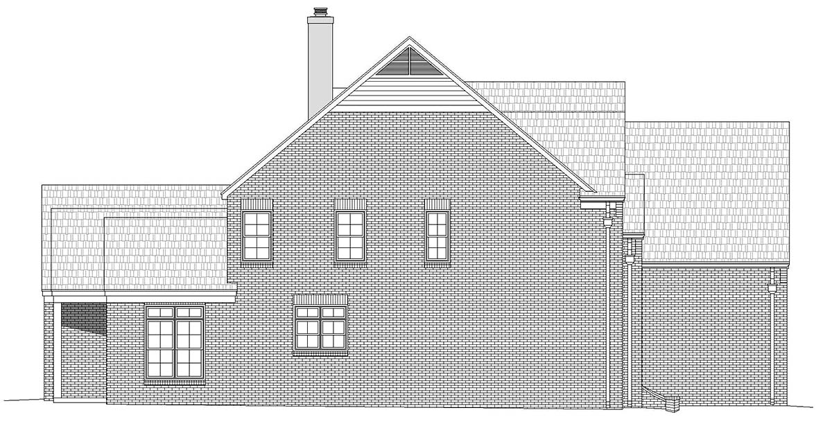 European, French Country, Traditional House Plan 40856 with 5 Beds, 5 Baths, 3 Car Garage Picture 2