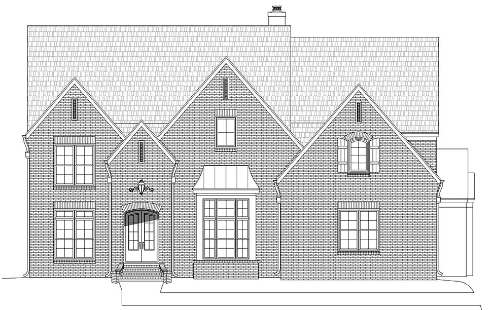 European, French Country, Traditional House Plan 40856 with 5 Beds, 5 Baths, 3 Car Garage Picture 3