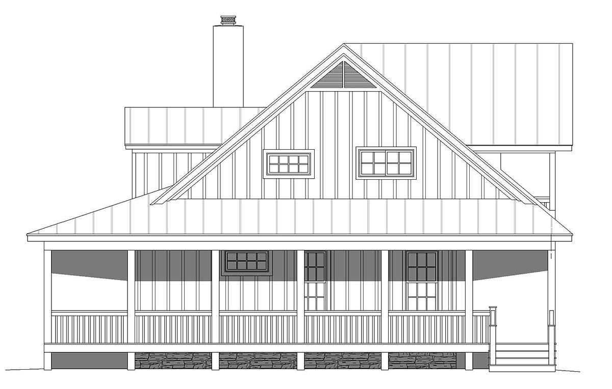 Country, Farmhouse, Traditional House Plan 40857 with 3 Beds, 4 Baths Picture 1