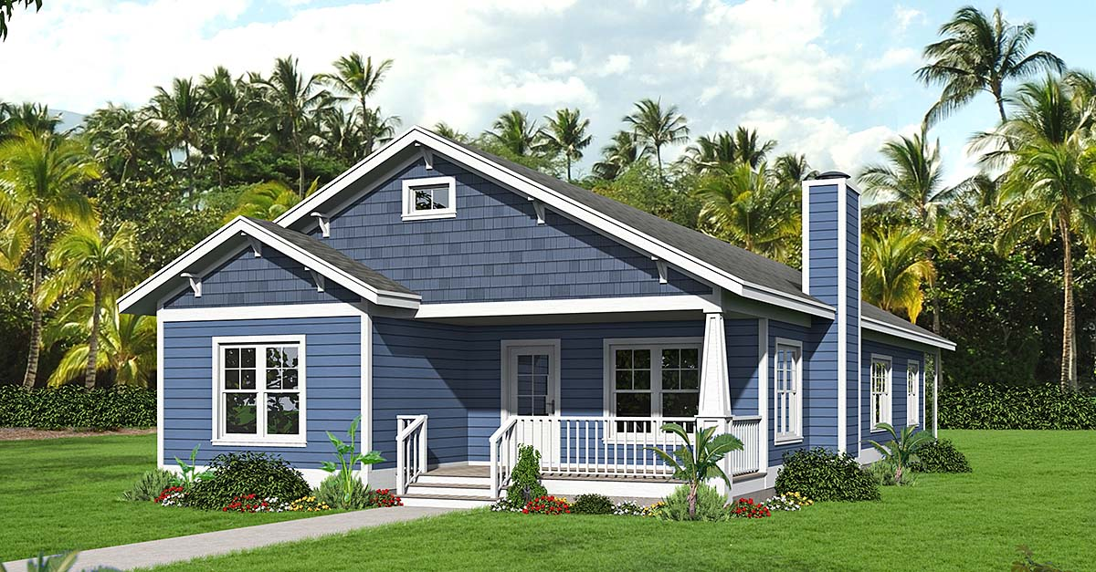 Country, Farmhouse, Ranch, Traditional House Plan 40859 with 3 Beds, 2 Baths Elevation