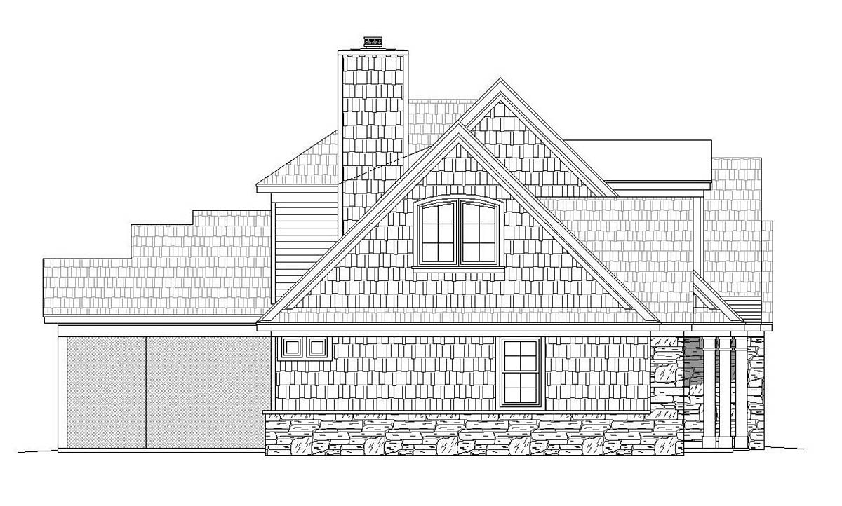Country, Craftsman, Farmhouse, Traditional House Plan 40861 with 4 Beds, 3 Baths, 3 Car Garage Picture 2