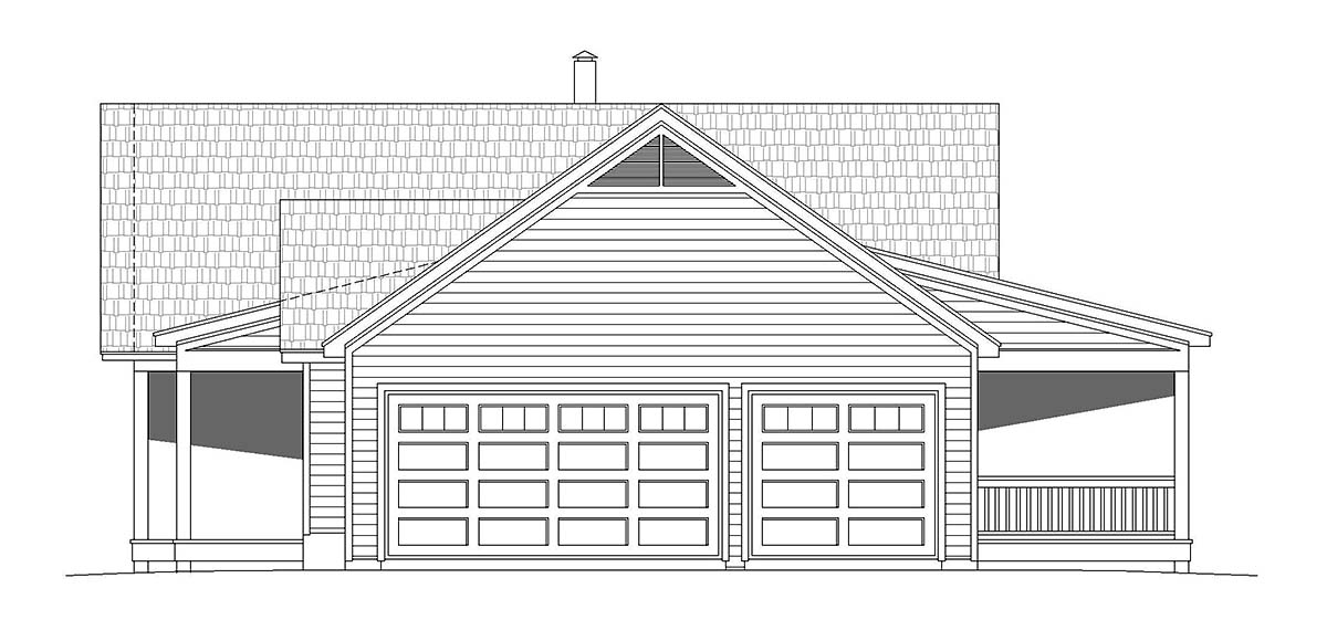 Country, Farmhouse, Ranch House Plan 40864 with 2 Beds, 2 Baths Picture 1