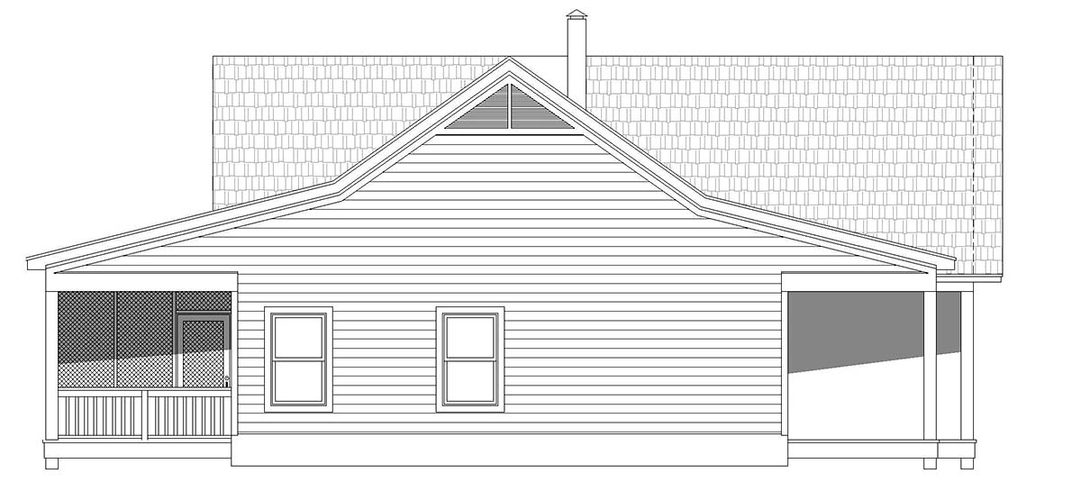 Country, Farmhouse, Ranch House Plan 40864 with 2 Beds, 2 Baths Picture 2