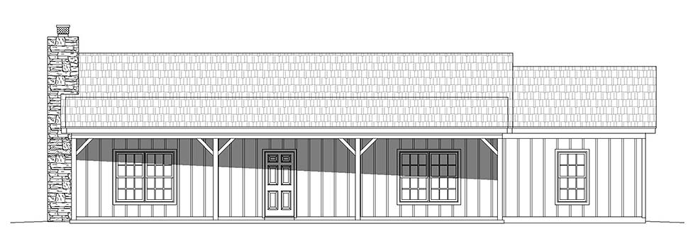 Country, Ranch, Traditional House Plan 40868 with 3 Beds, 2 Baths Picture 3