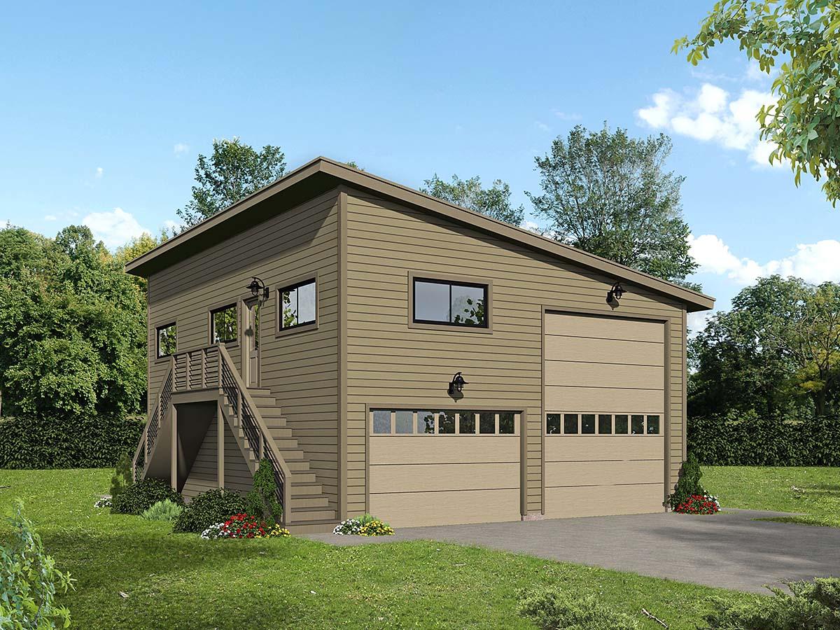 Garage-Living Plan 40869