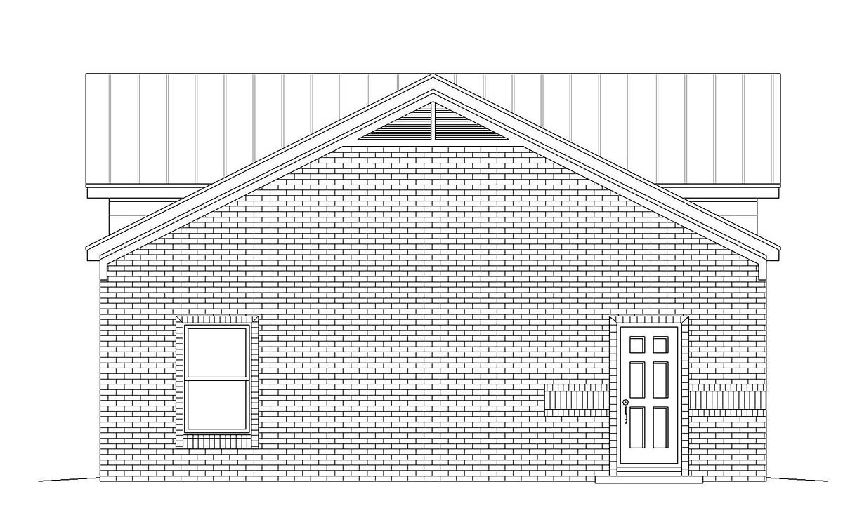 Traditional 2 Car Garage Plan 40875 Picture 2