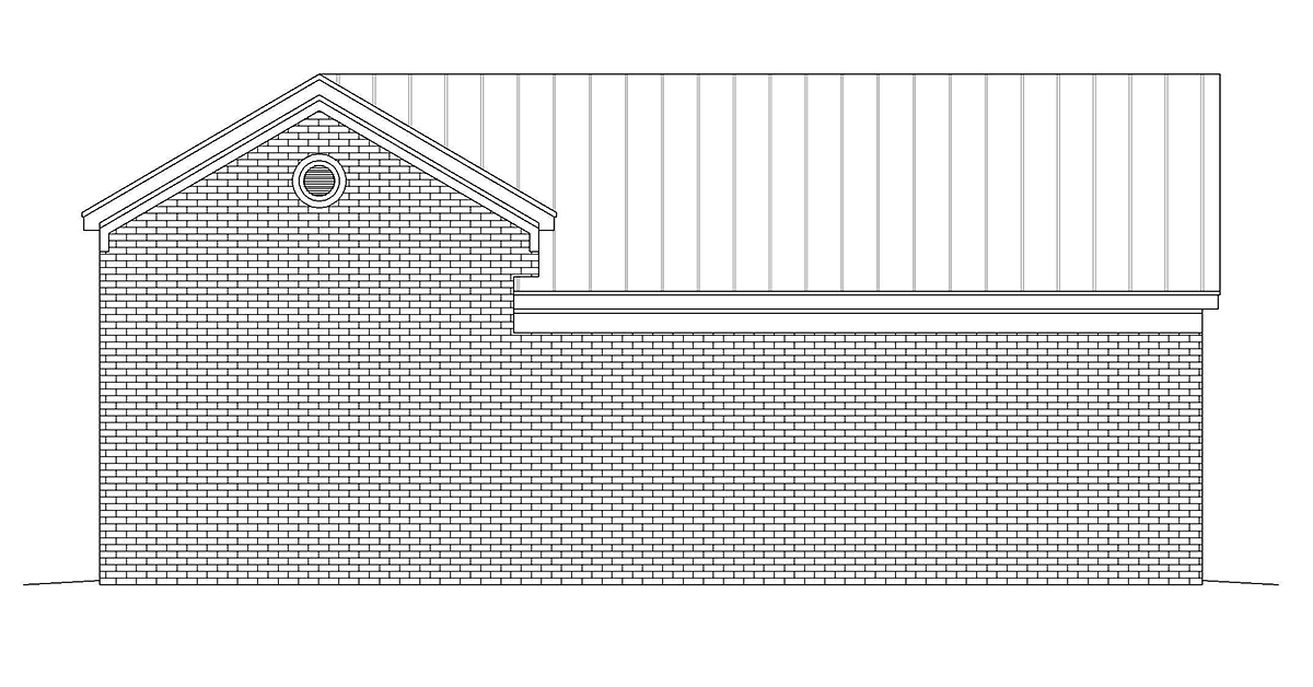 Traditional 2 Car Garage Plan 40875 Rear Elevation