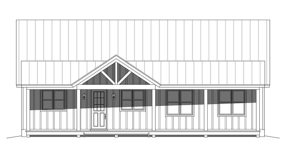Cabin, Country, Log House Plan 40877 with 3 Beds, 3 Baths Picture 3