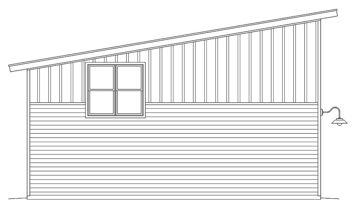 Contemporary, Modern 3 Car Garage Plan 40881, RV Storage Picture 2