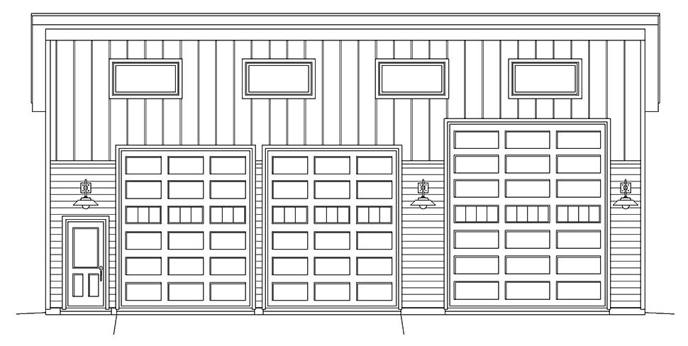 Contemporary, Modern 3 Car Garage Plan 40881, RV Storage Picture 3