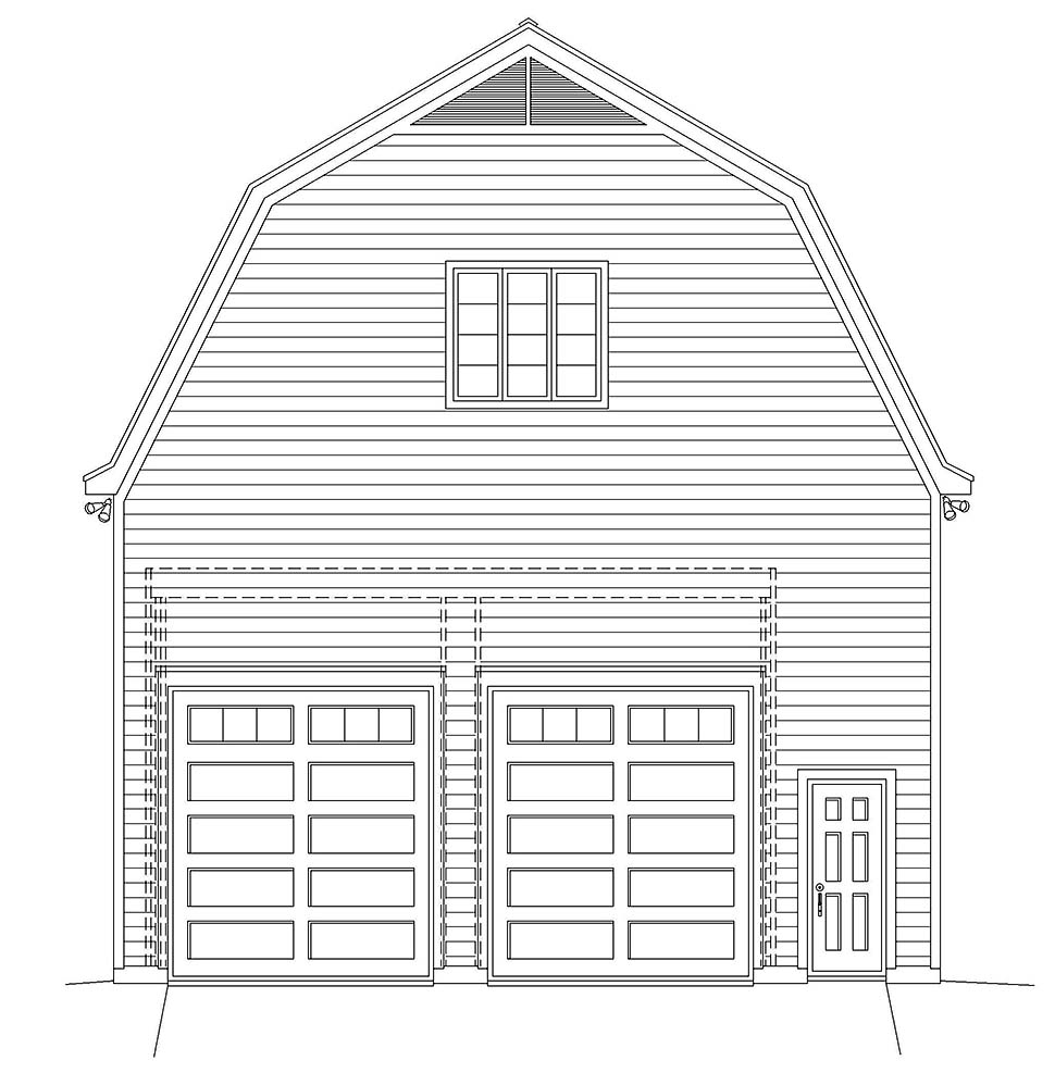 Cottage, Country 4 Car Garage Plan 40884 Picture 3