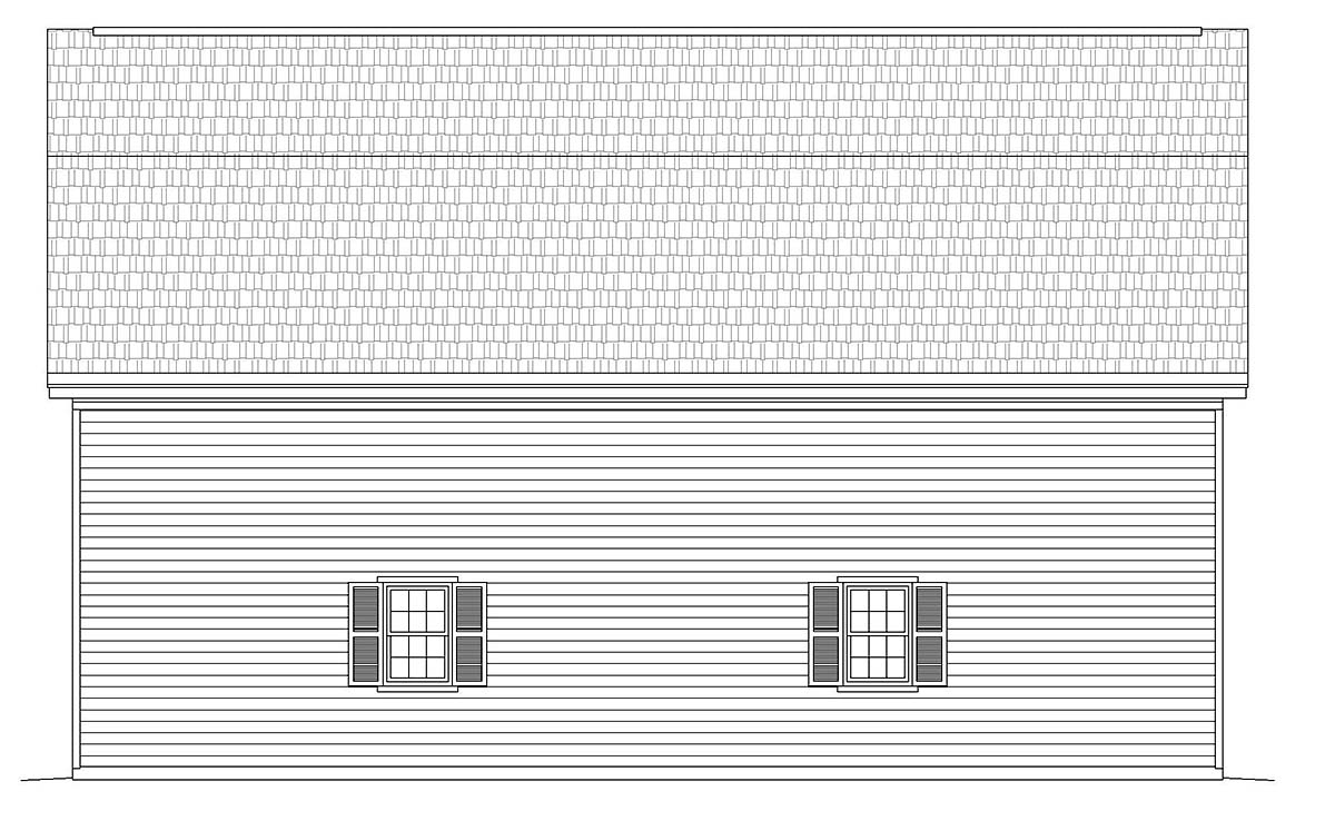 Cottage, Country 4 Car Garage Plan 40885 Picture 2
