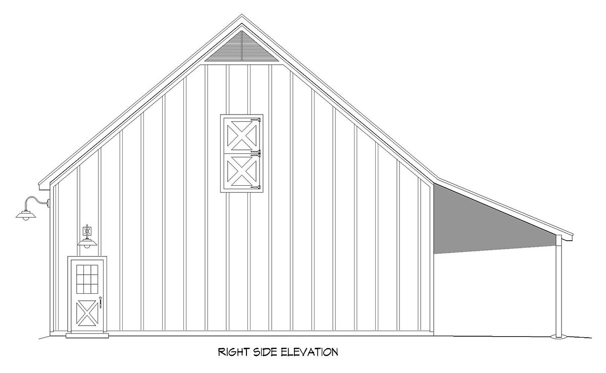 Country, Farmhouse, Traditional 2 Car Garage Plan 40888 Picture 1