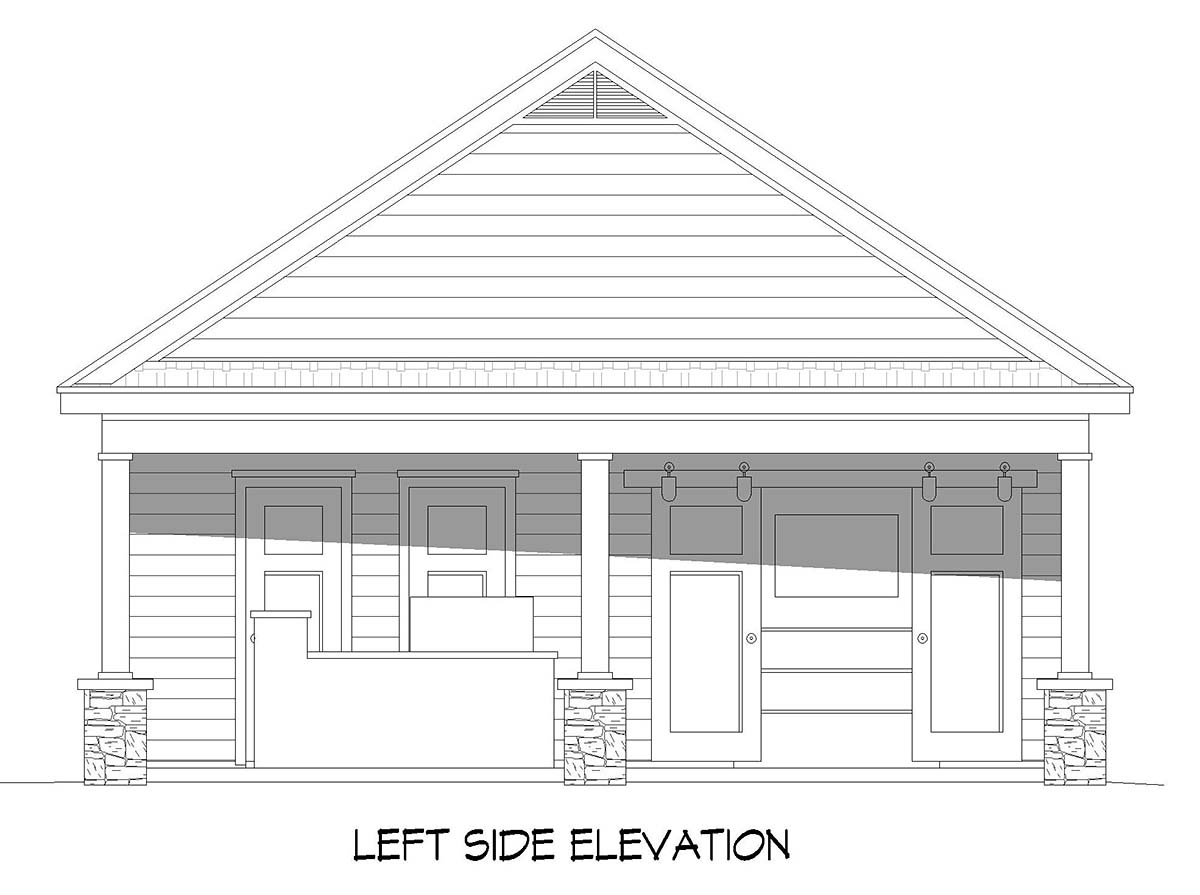 Bungalow, Country, Craftsman, Ranch, Traditional 0 Car Garage Plan 40890 Picture 2