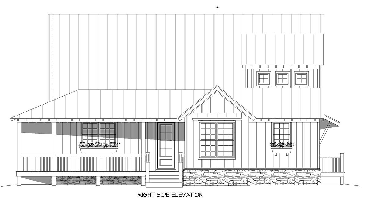 Cottage, Country, Farmhouse House Plan 40893 with 3 Beds, 3 Baths Picture 1