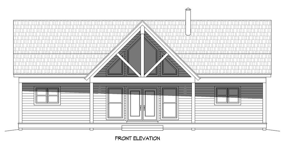 Country, Farmhouse, Ranch, Traditional House Plan 40894 with 4 Beds, 3 Baths, 1 Car Garage Picture 3