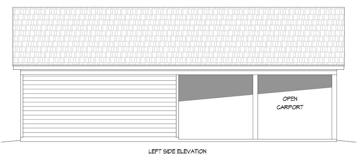 Country, Ranch, Traditional 3 Car Garage Plan 40895 Picture 2