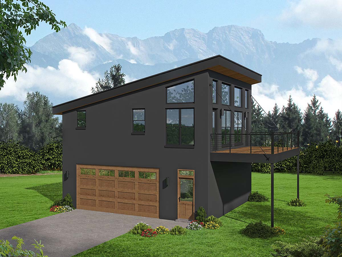 Garage-Living Plan 40897