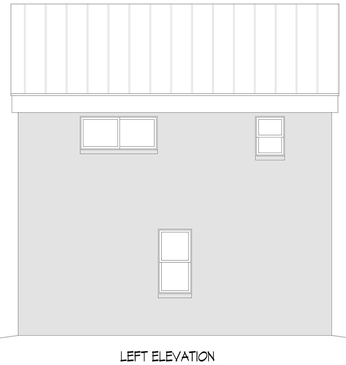 Contemporary, Modern Garage-Living Plan 40897 with 1 Beds, 1 Baths, 2 Car Garage Picture 2