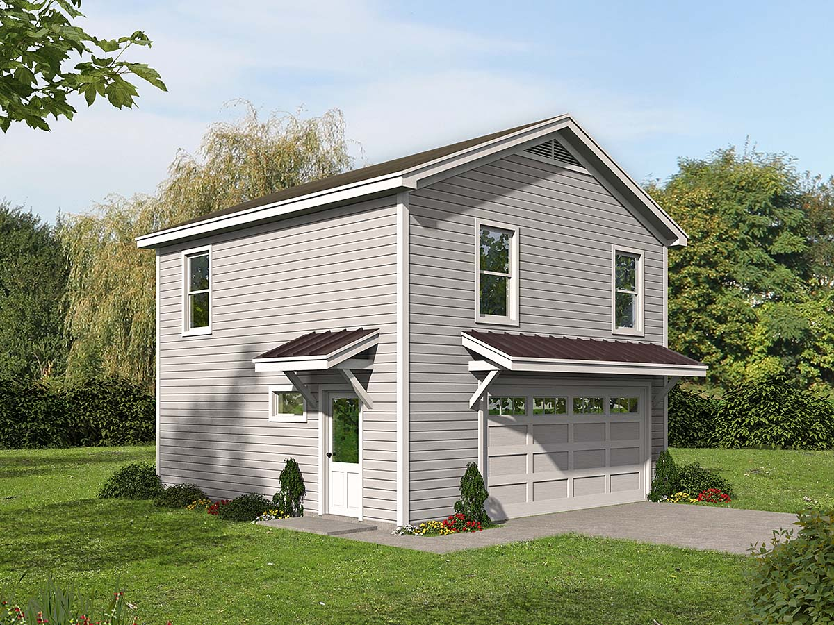 Country, Traditional 2 Car Garage Apartment Plan 40899 with 2 Beds, 1 Baths Elevation