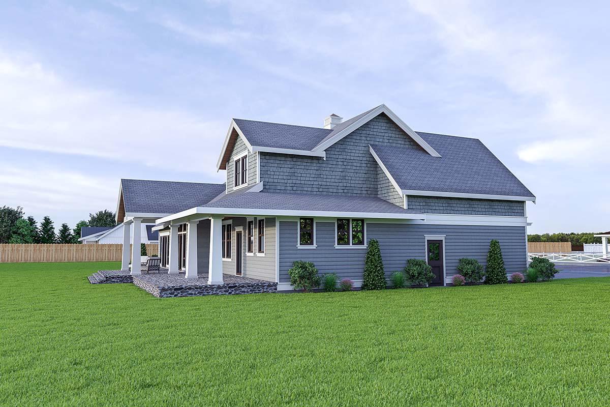 Coastal, Cottage, Craftsman House Plan 40912 with 3 Beds, 3 Baths, 2 Car Garage Picture 2