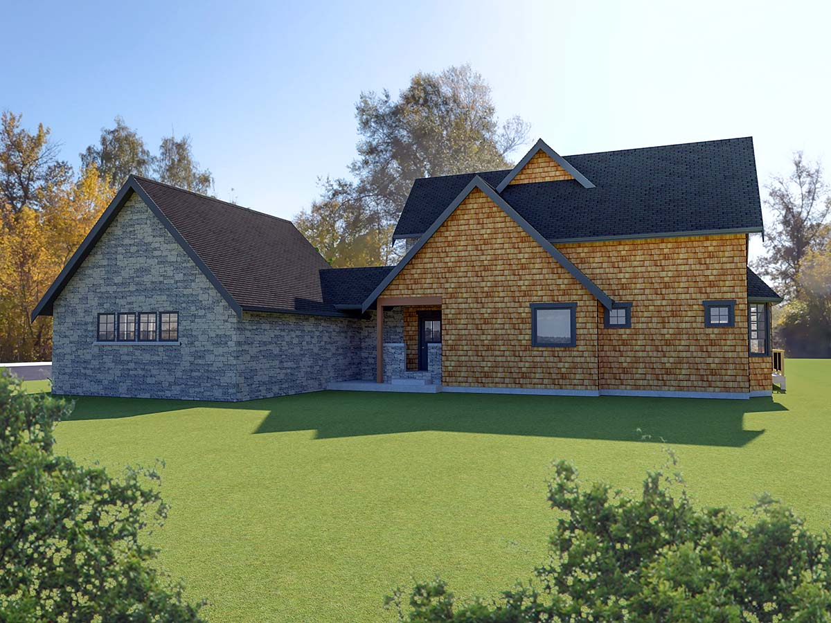 Cottage, Tudor, Victorian House Plan 40913 with 2 Beds, 3 Baths, 2 Car Garage Picture 1