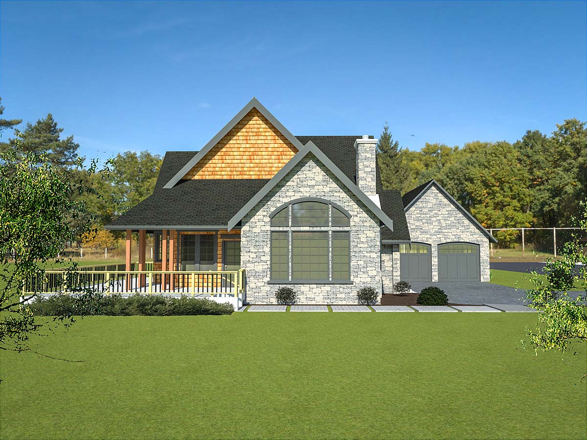 Cottage, Tudor, Victorian House Plan 40913 with 2 Beds, 3 Baths, 2 Car Garage Picture 2