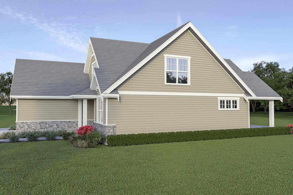 Country, Craftsman House Plan 40914 with 3 Beds, 3 Baths, 2 Car Garage Picture 1