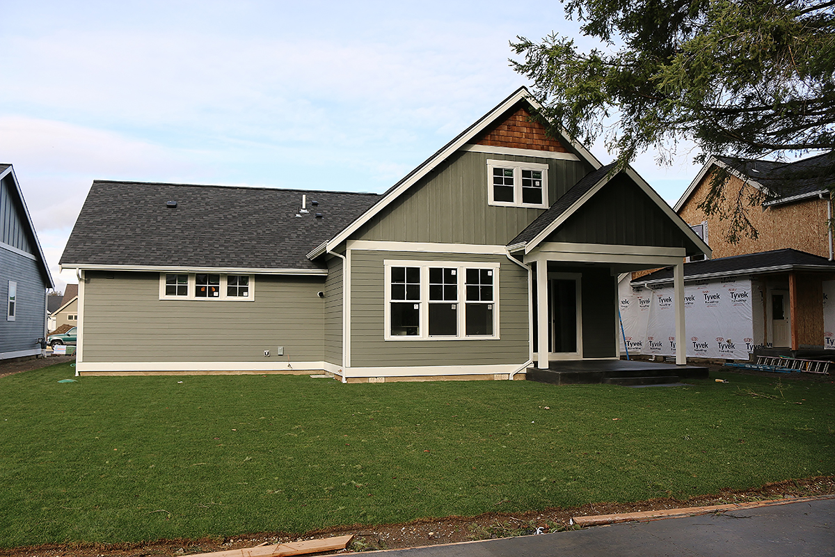 Country, Craftsman House Plan 40915 with 3 Beds, 3 Baths, 2 Car Garage Rear Elevation