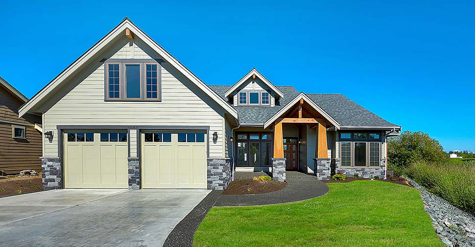 Country, Craftsman, Farmhouse House Plan 40922 with 3 Beds, 3 Baths, 2 Car Garage Picture 2
