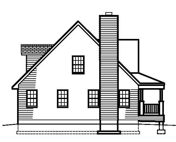 Country, Southern House Plan 41000 with 3 Beds, 3 Baths Picture 1