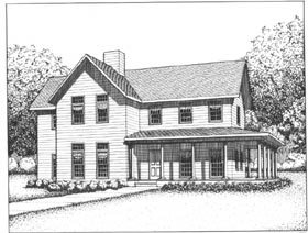 Country, Farmhouse, Southern House Plan 41018 with 3 Beds, 4 Baths Elevation