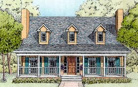 Plan Number 41021 - 1604 Square Feet