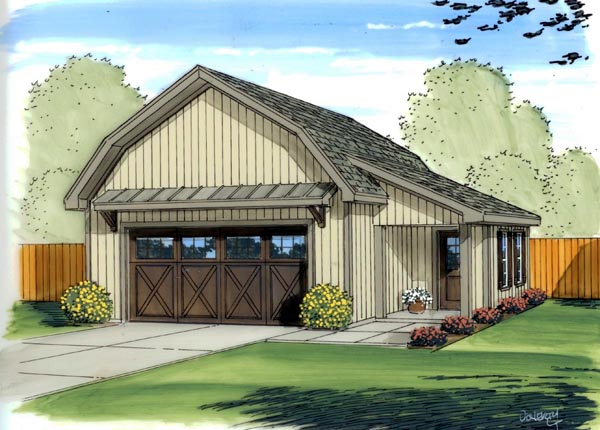 Country, Farmhouse 2 Car Garage Plan 41137 Front Elevation
