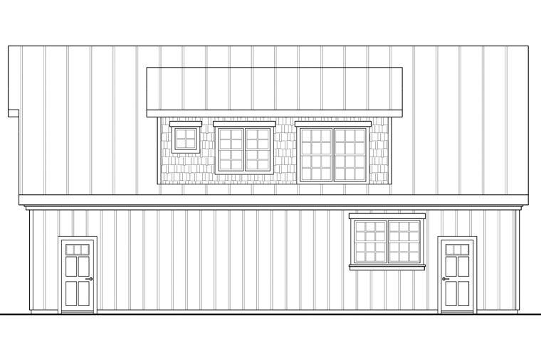 Craftsman, European 2 Car Garage Apartment Plan 41153 with 1 Beds, 1 Baths Picture 2