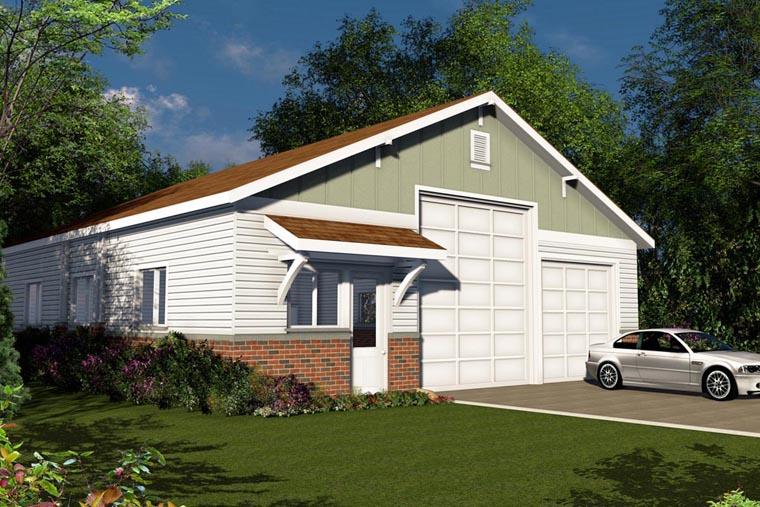 Traditional 4 Car Garage Plan 41155 Elevation